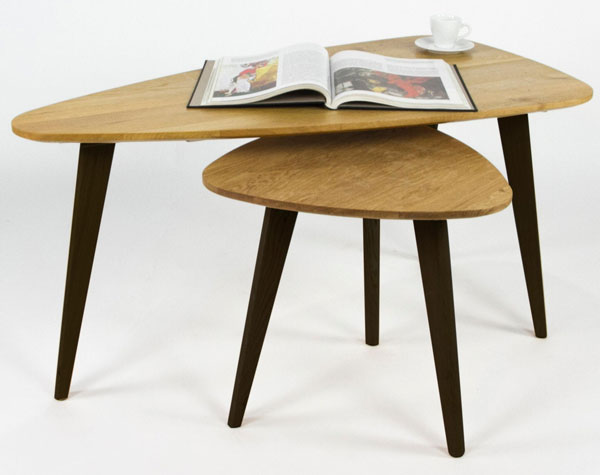 Pair of retro coffee tables by Sy Design