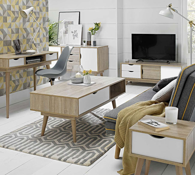 Scandi white coffee table at Dunelm