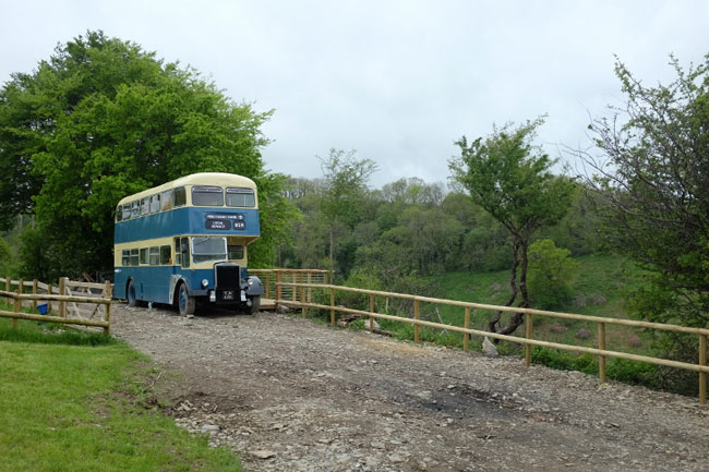Holiday on a 1960s double decker bus in Wales
