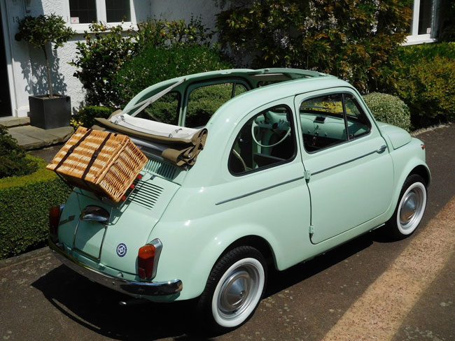 Restored 1962 Fiat 500D Trasformabile car on eBay