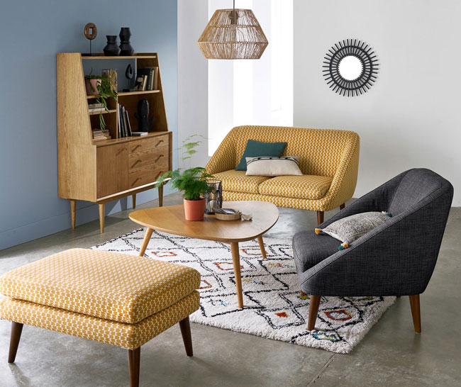 Quilda midcentury modern coffee table at La Redoute