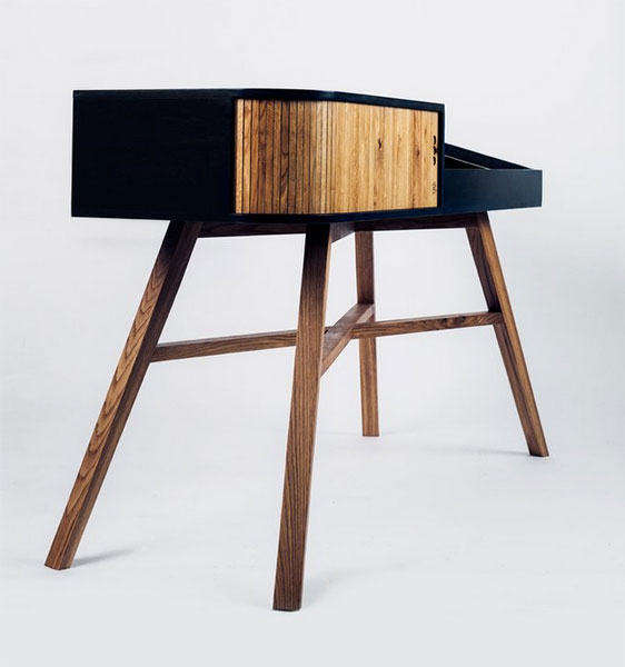Midcentury Vinyl Table by HRDL
