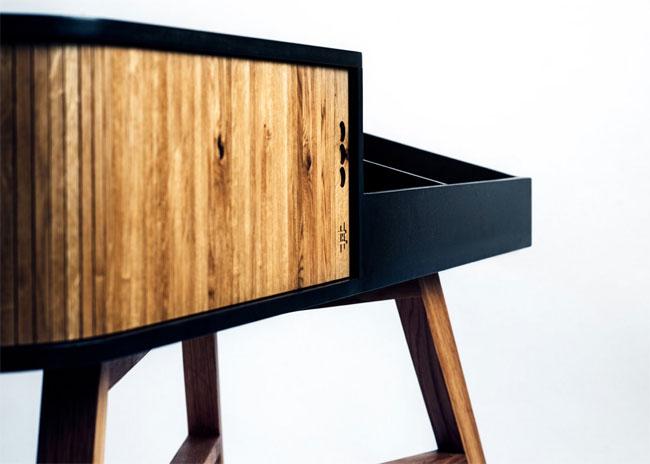 Midcentury Vinyl Table by HRDL