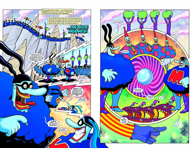 The Beatles Yellow Submarine graphic novel by Bill Morrison