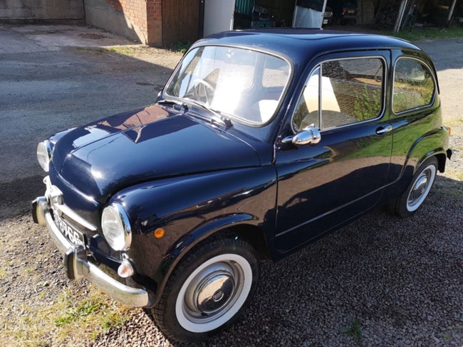 Rare 1960s right hand drive Fiat 600D on eBay
