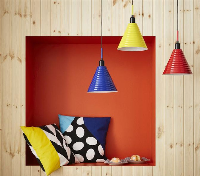 Go 80s with the Ikea Fargstark pendant lamp