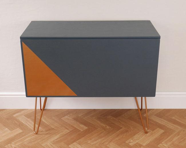 Upcycled midcentury record storage cabinet on eBay