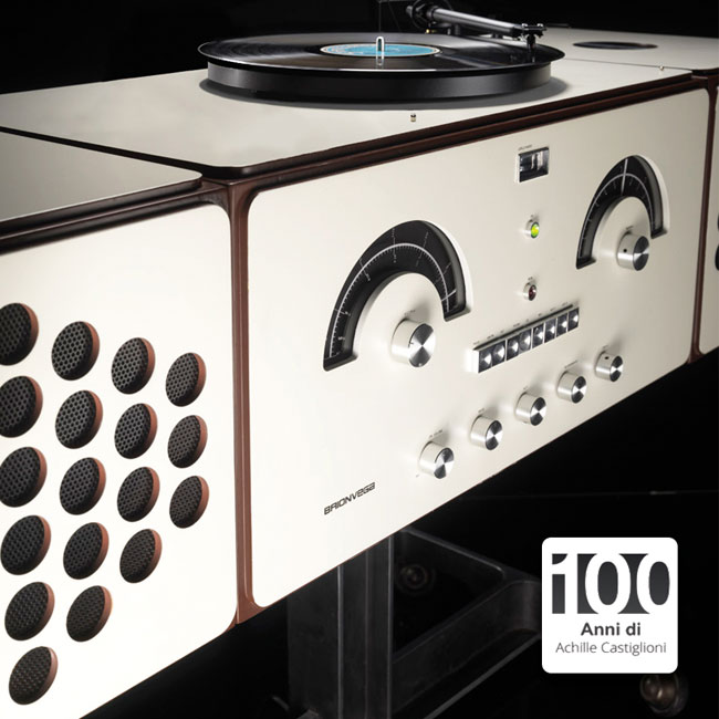 1960s Brionvega Radiofonografo rr226 record player reissued as a limited edition