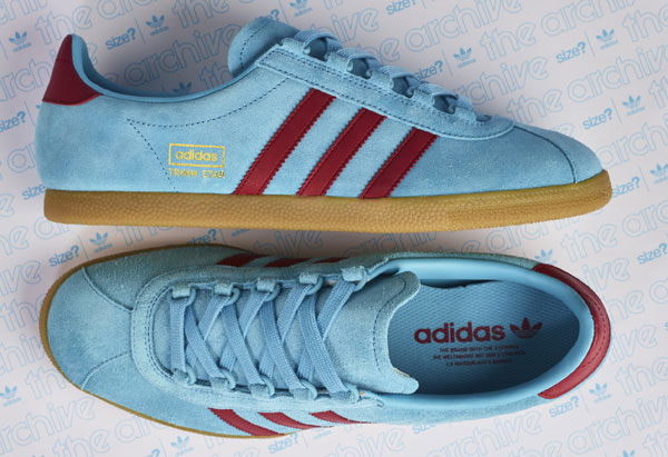 Size? reissues Adidas Trimm Star trainers in claret and blue
