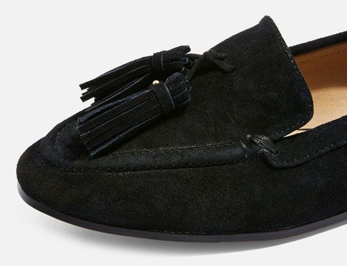 Lexi classic suede loafers at Topshop