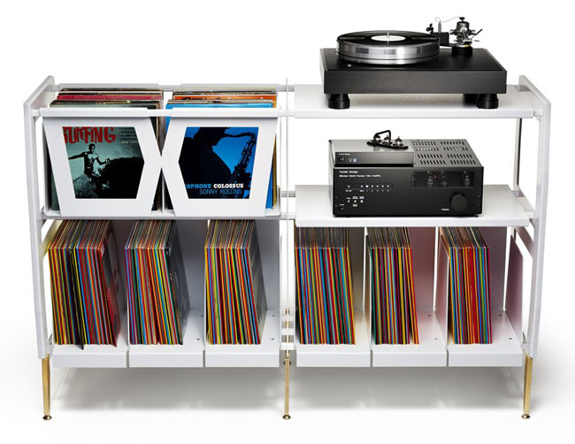 LP-H retro vinyl console by Wax Rax