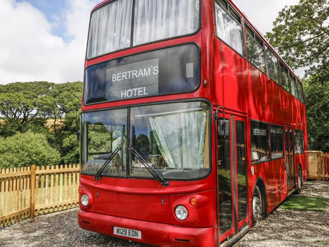 Holiday in a retro Routemaster bus in Devon
