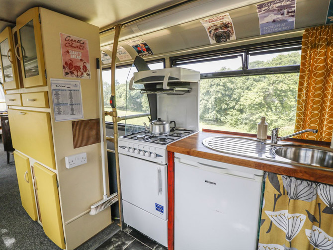 Holiday in a retro Routemaster bus in Devon