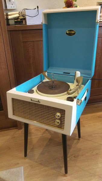 Original 1950s Dansette Major Deluxe record player on eBay