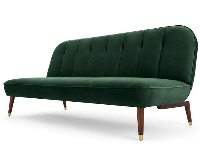 Margot vintage-style sofa bed at Made
