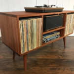 Midcentury vinyl storage units by Scott Cassin