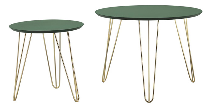 Retro midcentury table sets by Present Time