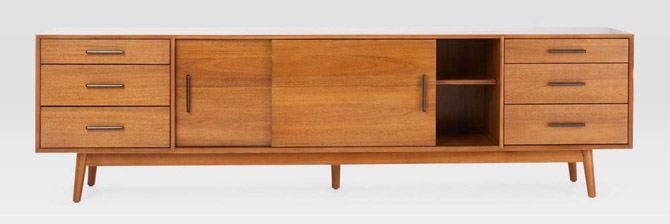 Mid-Century Media Console at West Elm