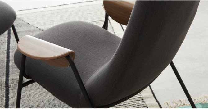 1950s-style Drew accent chair at Made