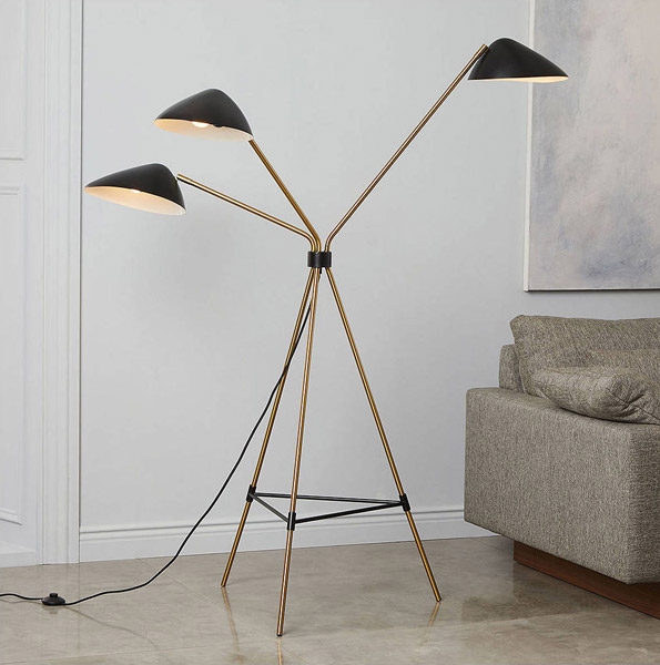 Mid-Century Curvilinear Floor Lamp by West Elm