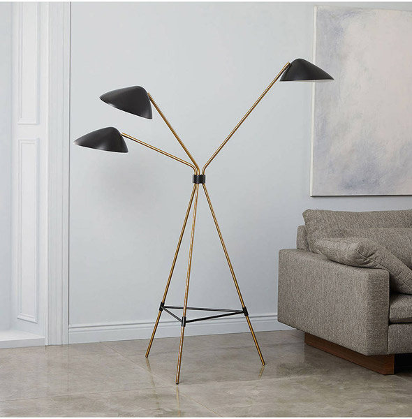 Mid-Century Curvilinear Floor Lamp by West Elm