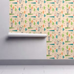 Authentic midcentury modern wallpaper range by Spoonflower