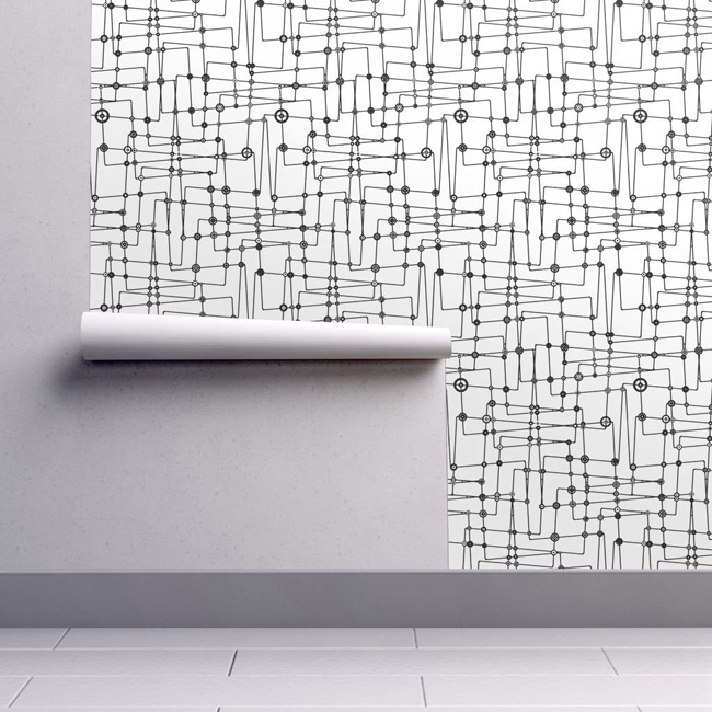 Authentic midcentury modern wallpaper range by Spoonflower