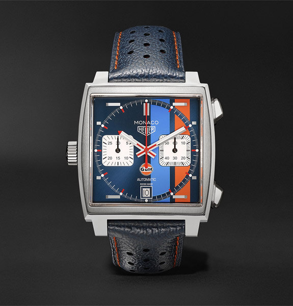 Tag Heuer Monaco 50th Anniversary Gulf Edition watch