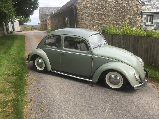 Fully restored 1959 Volkswagen Beetle on eBay
