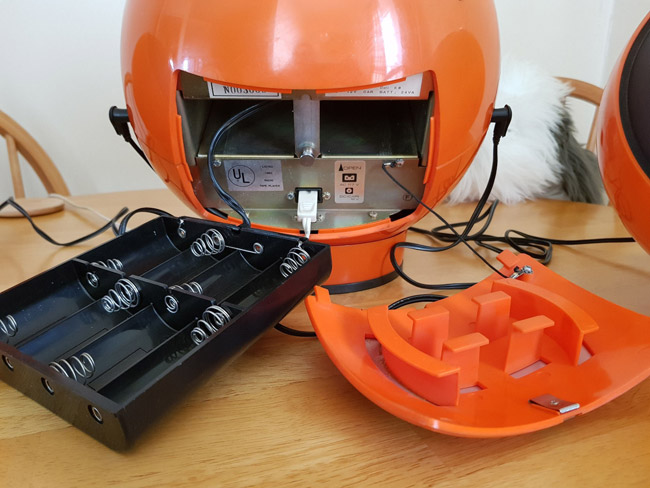 Fully working Weltron 2001 Spaceball audio system on eBay