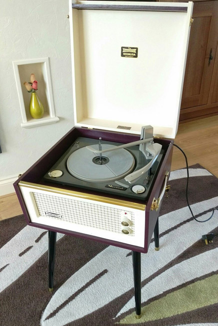 Original 1960s Dansette Bermuda record player on eBay