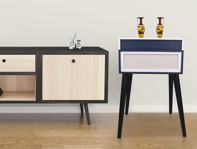 D&L Dansette-style record player with legs
