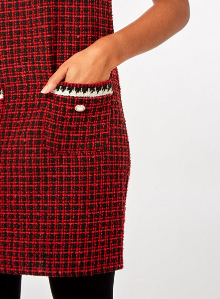 1960s-style red mini check shift dress at Dorothy Perkins