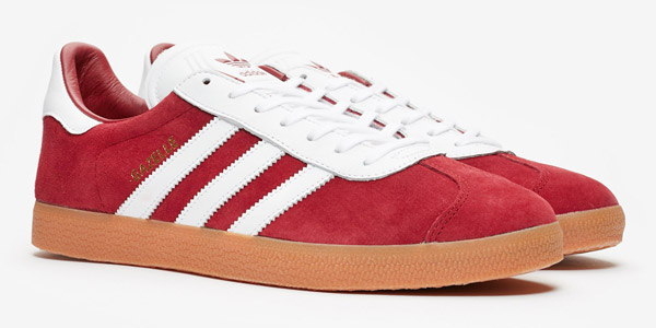 Adidas Gazelle trainers go old school in blue and red - Retro to Go