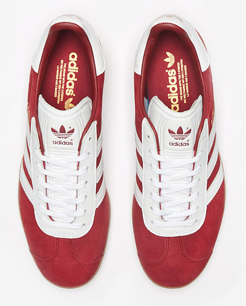 Adidas Gazelle trainers go old school in blue and red