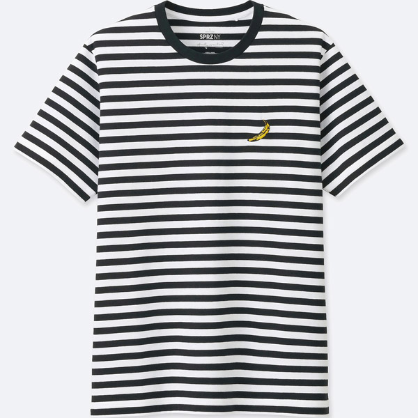 Pop art clothing: Andy Warhol striped t-shirt at Uniqlo