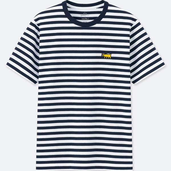 Pop art clothing: Andy Warhol striped t-shirt at Uniqlo