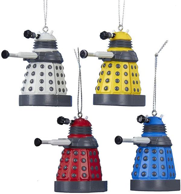 17. Doctor Who Daleks Christmas ornaments set