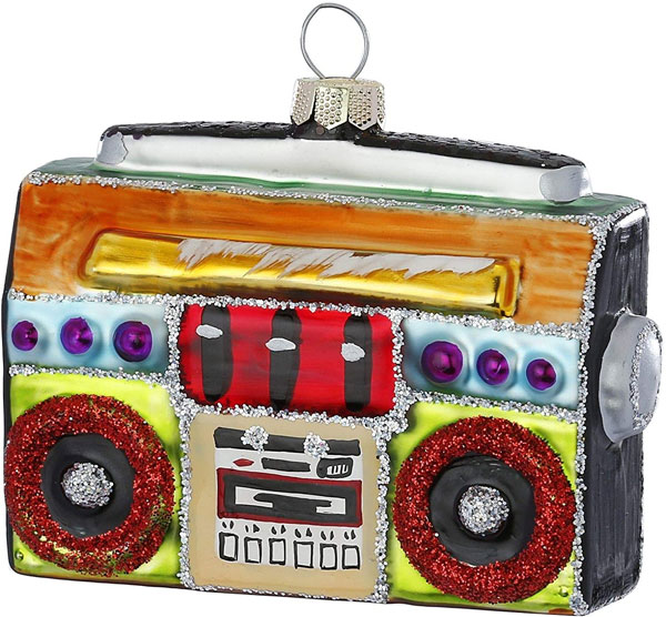 2. Retro boombox Christmas ornament by Inge-glas