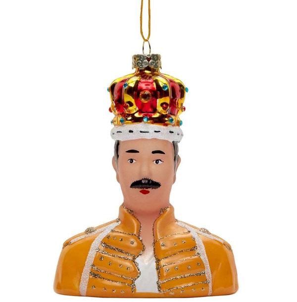26. Freddie Mercury Christmas ornament at House of Hackney