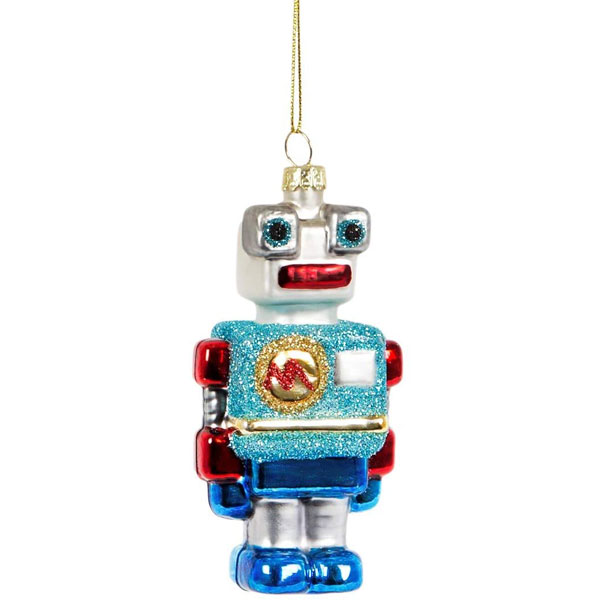 27. Sass and Belle Ricky robot-shaped bauble