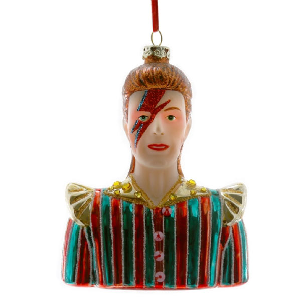 3. David Bowie Christmas decorations