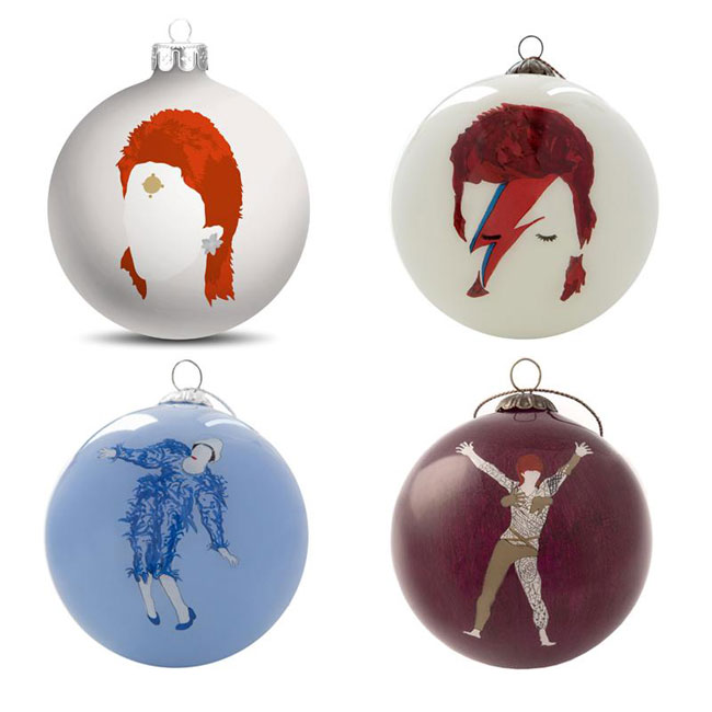 Bowie bauble set from the Baltic Gallery