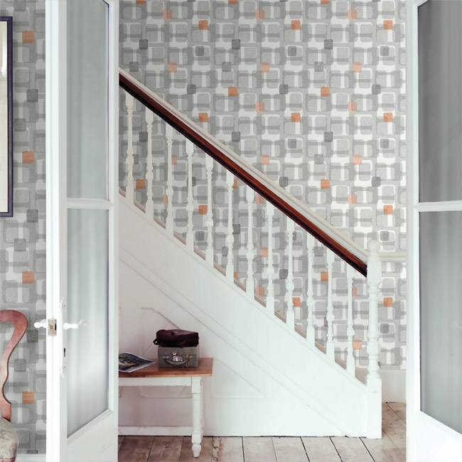 1950s-style Retro Block wallpaper by Arthouse