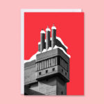 Brutalist architecture Christmas cards by In From The Storm