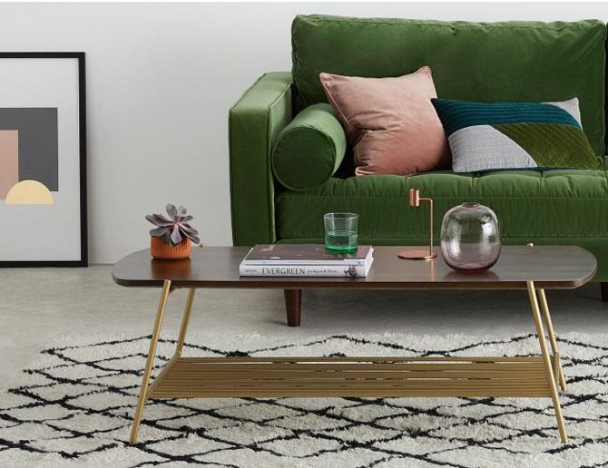 Bortolin 1950s-style coffee table at Made