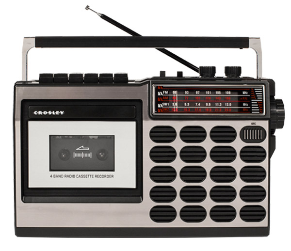 Go retro with the Crosley radio cassette player range