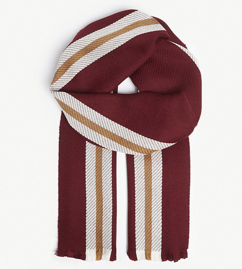 Johnstons personalised merino wool college scarves