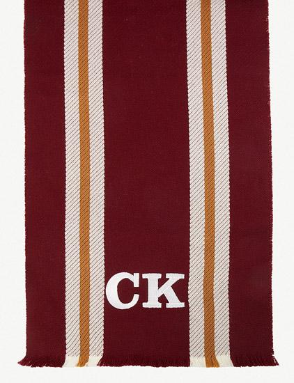 Johnstons personalised merino wool college scarves