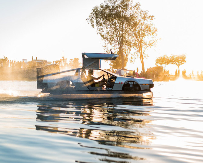 DeLorean hovercraft goes up for sale on eBay